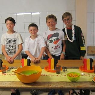 La sizaine des Deekan avec (de gauche à droite) : Gilles, Romain, Gabriel et Thomas