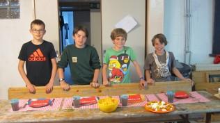 La sizaine des Waigunga avec (de gauche à droite) : Antoine, Gilles, Guillaume, Raphaël