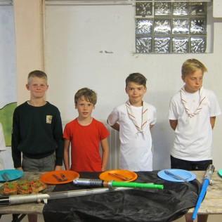 La sizaine des Mowha avec (de gauche à droite) : Louis, Thomas, Simon, Louis et... Louis