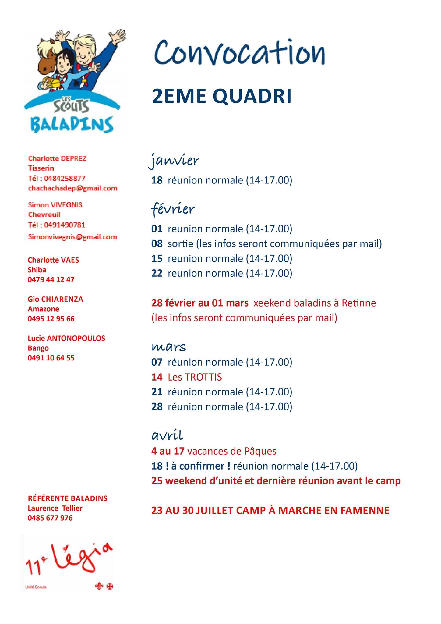 Programme baladins 2020